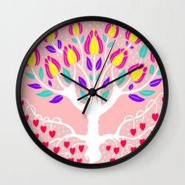 Love Grows Forever - Blush Peach Wall Clock