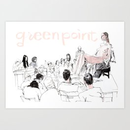 Greenpoint Figure Drawing Crowd Art Print