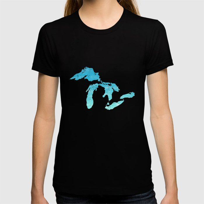 Great Lakes Blue Watercolor T-shirt