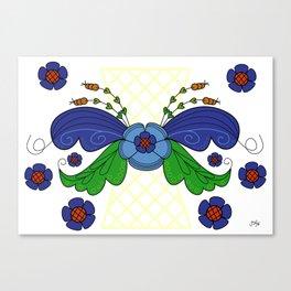 Folklore Flower Arrangement Canvas Print