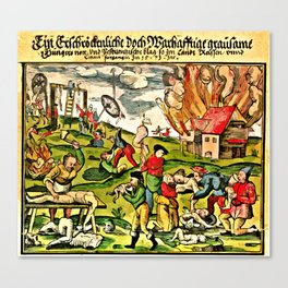Cannibalism in Russia and Lithuania 1571 Canvas Print