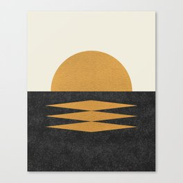 Sunset Geometric Midcentury style Canvas Print