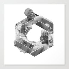 Love optical illusion Canvas Print
