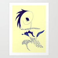 punk Art Prints featuring punk by Marie Elke Gebhardt