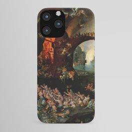 "Jan Brueghel The Elder ""Christ in Limbo"" (Riggisberg 1593) iPhone Case"