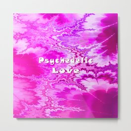 Psychedelic Love (hot magenta & pink) Metal Print