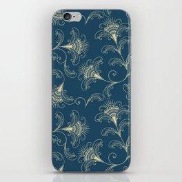 Dark Teal Elegance iPhone Skin
