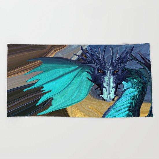 Sapphire Blaze Across the Canyon Beach Towel