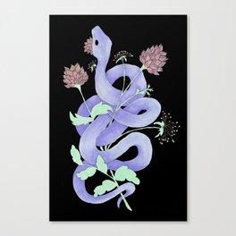lavendex lavender serpent snake Canvas Print