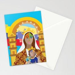 Virgen de Coromoto con Bandera Stationery Cards