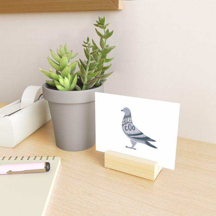 Stay Cool Pigeon Mini Art Print
