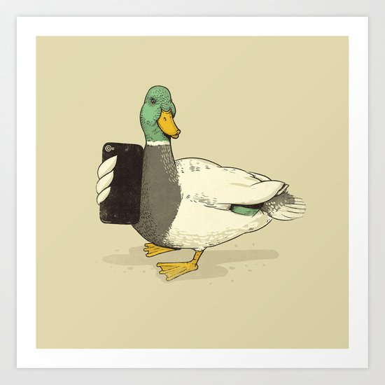 Duck Lips Art Print