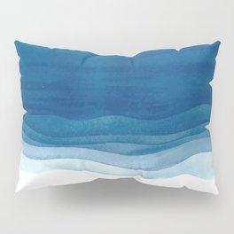 Watercolor blue waves Pillow Sham