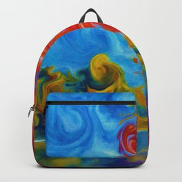 Abstract Landscape Art Painting Backpack