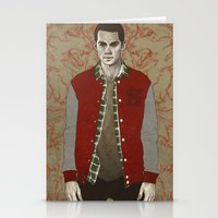 stiles Stationery Cards featuring Stiles Alpha by Sudjino