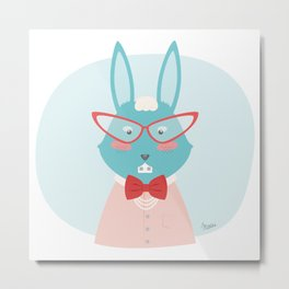 Fancy Rabbit Metal Print