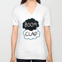 tfios V-neck T-shirts featuring Boom Clap (the sound of my heart - TFIOS) by Tangerine-Tane