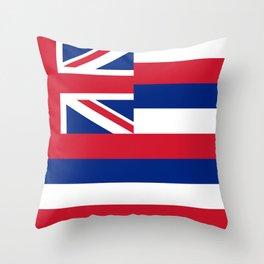 Flag of Hawaii, High Quality image Throw Pillow