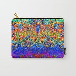 Bright Rainbow Colored Half Mandala Design Carry-All Pouch