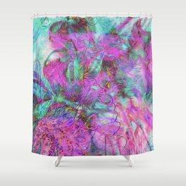 Tye-Dye Abstract Shower Curtain