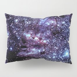 GalAXY : Blue Periwinkle Purple Stars Pillow Sham
