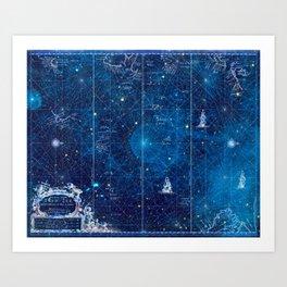 a space map (1) Art Print
