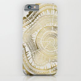 Gold Tree Rings iPhone Case