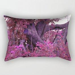 Pink red alien planet tree bright Rectangular Pillow