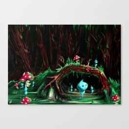 Wisps forest Canvas Print
