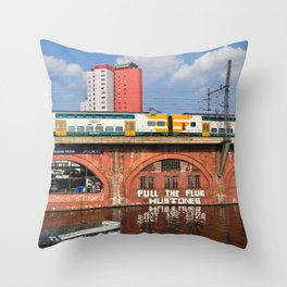 Old storehouse of Berlin Throw Pillow