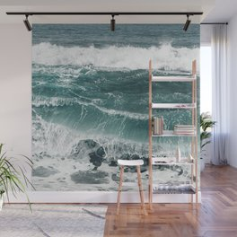Electric blues Wall Mural