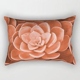 Red Succulenta Flower Rectangular Pillow