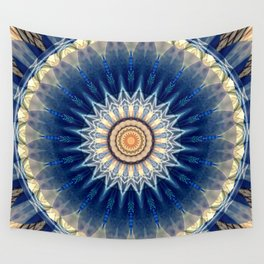 Mandala blue created by Tutti Wall Tapestry