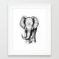 ornate elephant Framed Art Prints featuring Ornate elephant by Creadoorm