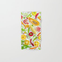 Fruits and vegetables pattern (12) Hand & Bath Towel