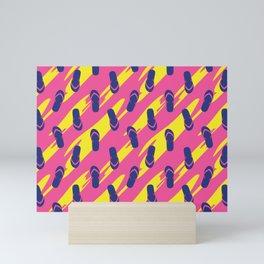 Colorful sandals seamless pattern Mini Art Print