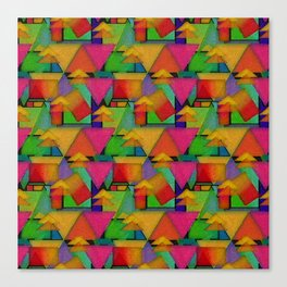 Abstract Geometric Patterns Canvas Print