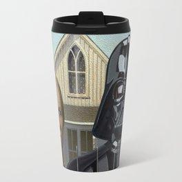 Darth Vader in American Gothic Travel Mug