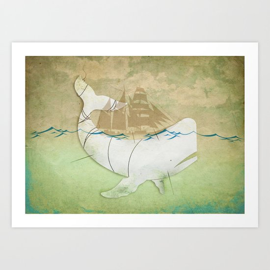 The ghost of Captain Ahab  Art Print