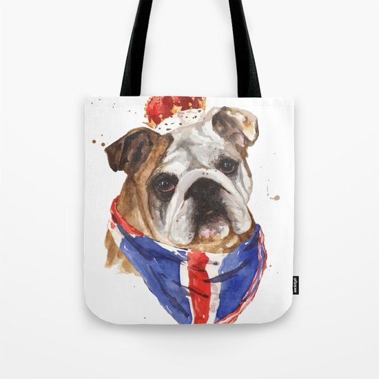Thank you LONDON - British BULLDOG - Jubilee Art Tote Bag
