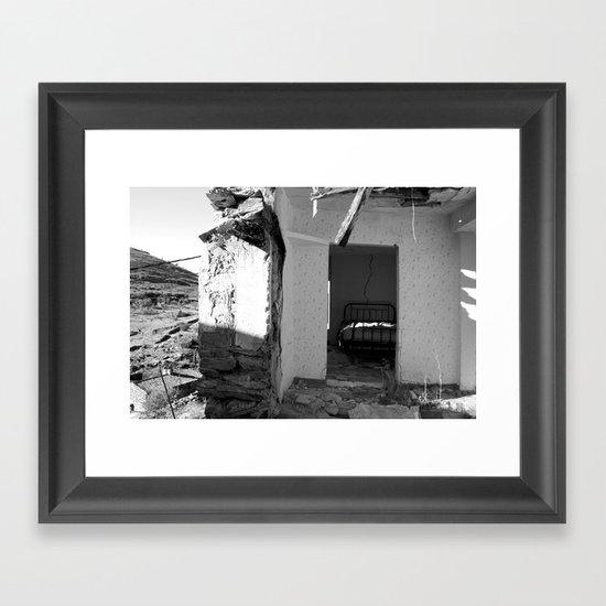 The house that collapsed.  Framed Art Print