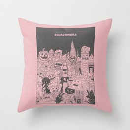 Squad Ghouls Throw Pillow