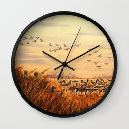 Goose Hunting Companions Wall Clock