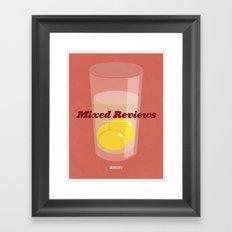 Mixed Reviews - Rocky Framed Art Print