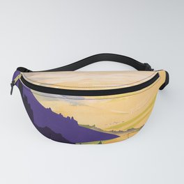 retro iconic Alsace poster Fanny Pack