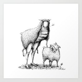 Thumb in Sheep's Clothing Art Print