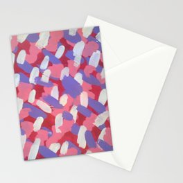 Pink and Purple Brushstrokes Art Stationery Cards