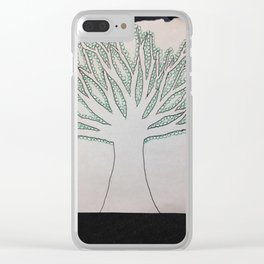 Green Tree Clear iPhone Case