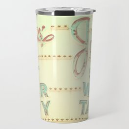 Vintage Sign Print, retro nursery decor, shabby chic, carnival print, vintage circus Travel Mug
