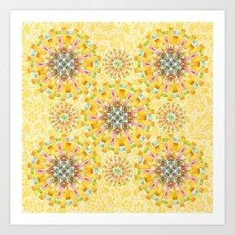 Sunshine Mandala Art Print